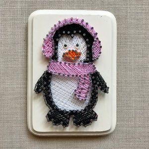 Penguin string art